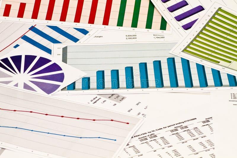 企业图表增加的图形增长赢利费率 免版税库存照片