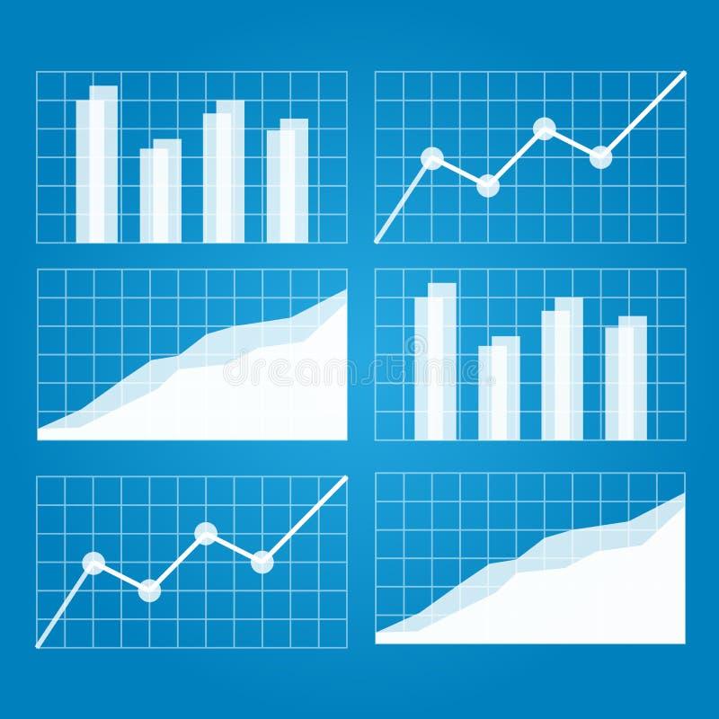 企业图表增加的图形增长赢利费率 皇族释放例证