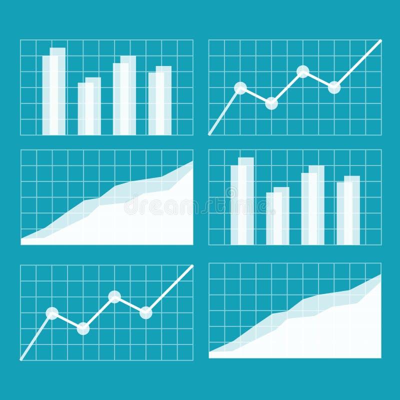 企业图表增加的图形增长赢利费率 库存例证