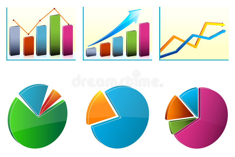 企业图表增长 库存例证