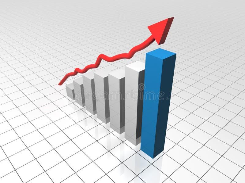 企业图表增长 向量例证