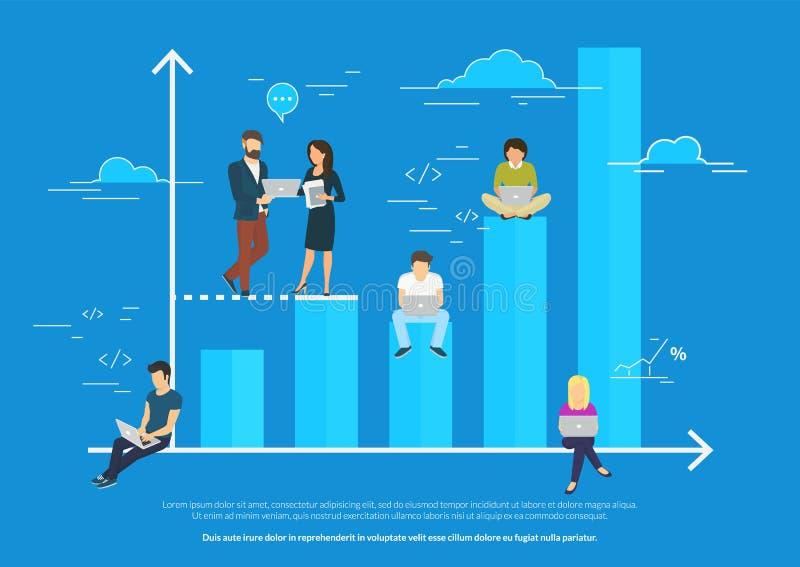 企业图表成长概念例证 库存例证