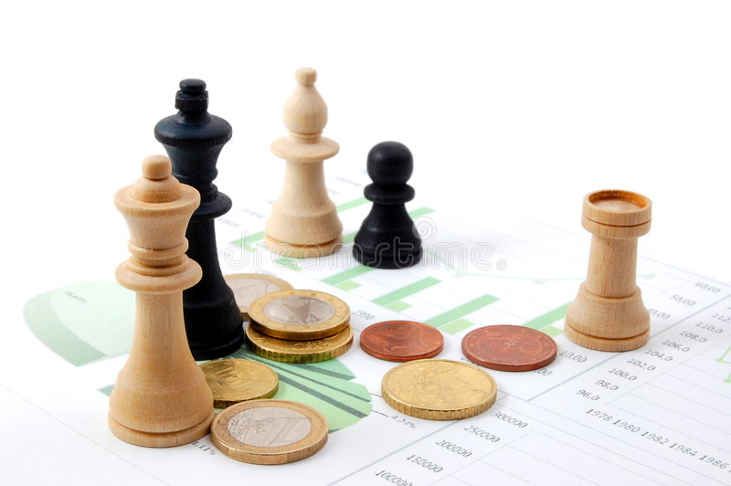 企业图表棋人 免版税库存图片