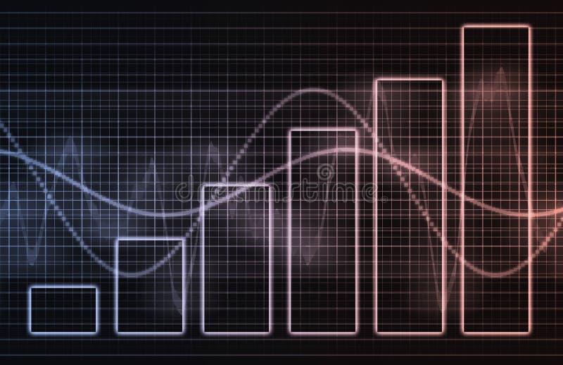 企业图表概念绘制 向量例证