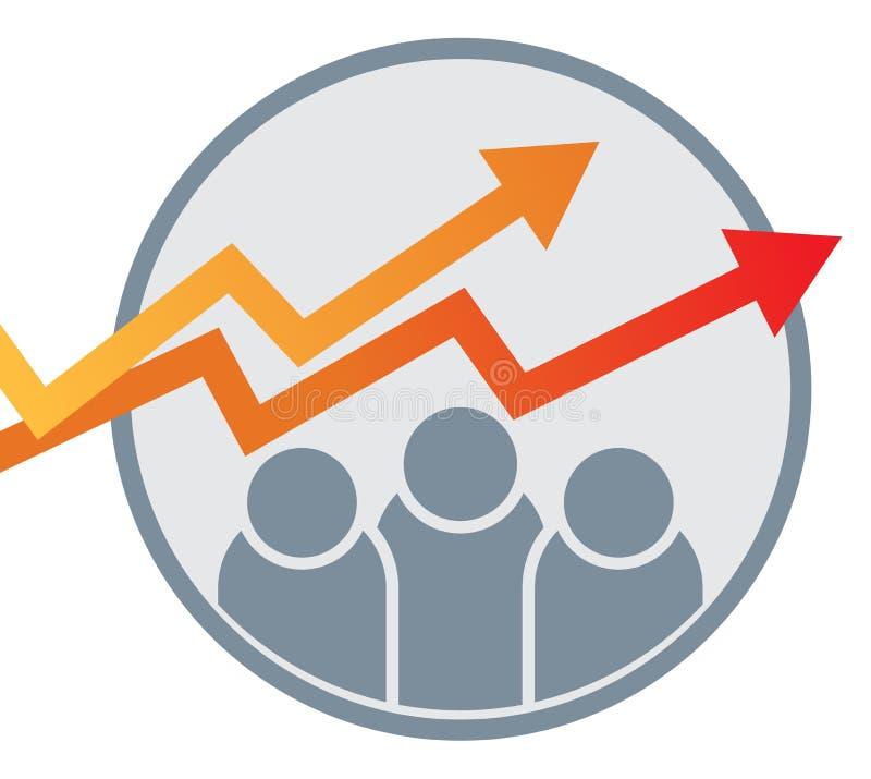 企业图表箭头图商标 向量例证