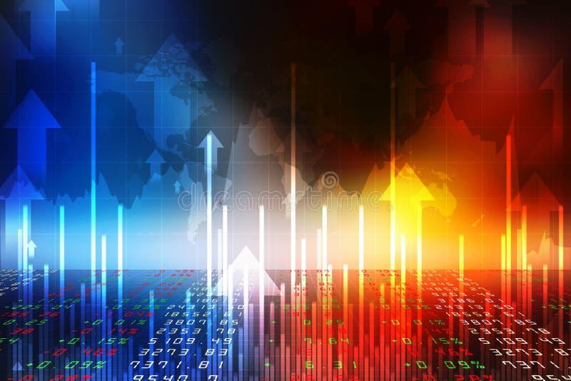 企业图表背景,股票市场图,财政背景 库存例证