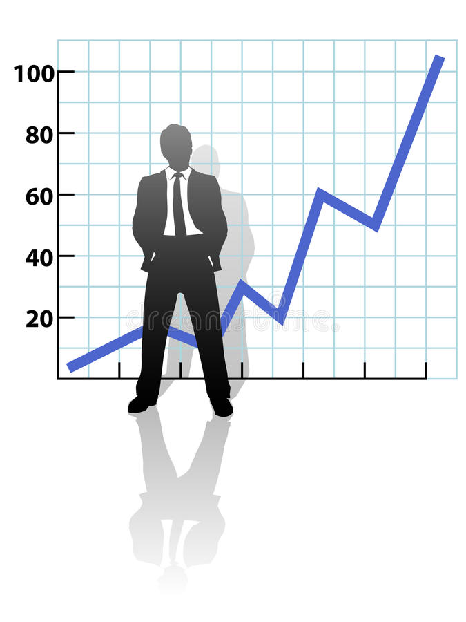 企业图表财务增长人成功 向量例证