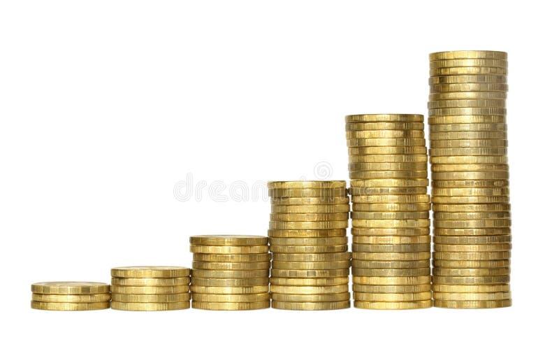 企业图表铸造做的金黄 免版税图库摄影