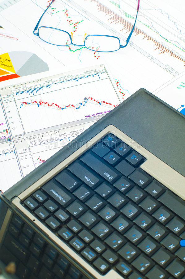 企业图表 免版税图库摄影