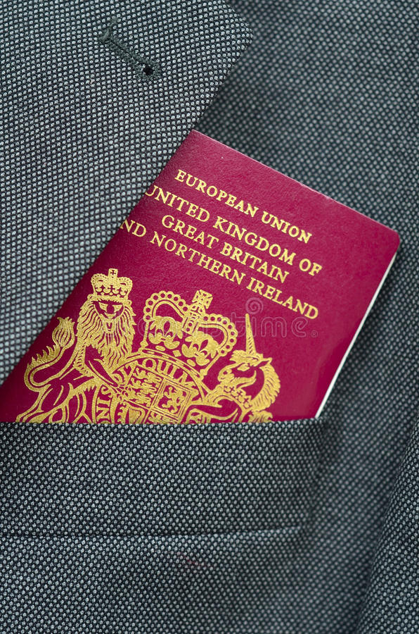 企业图象护照旅行 免版税图库摄影