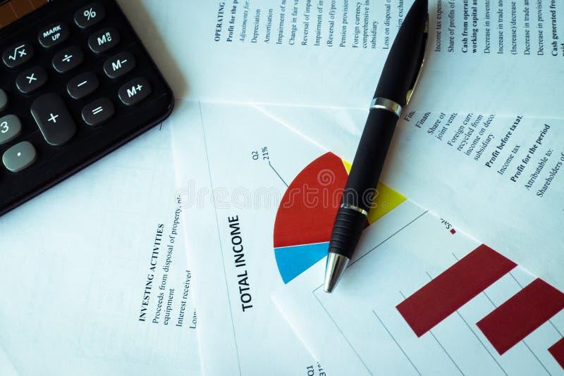 企业图,财政和企业概念的报告背景 免版税图库摄影