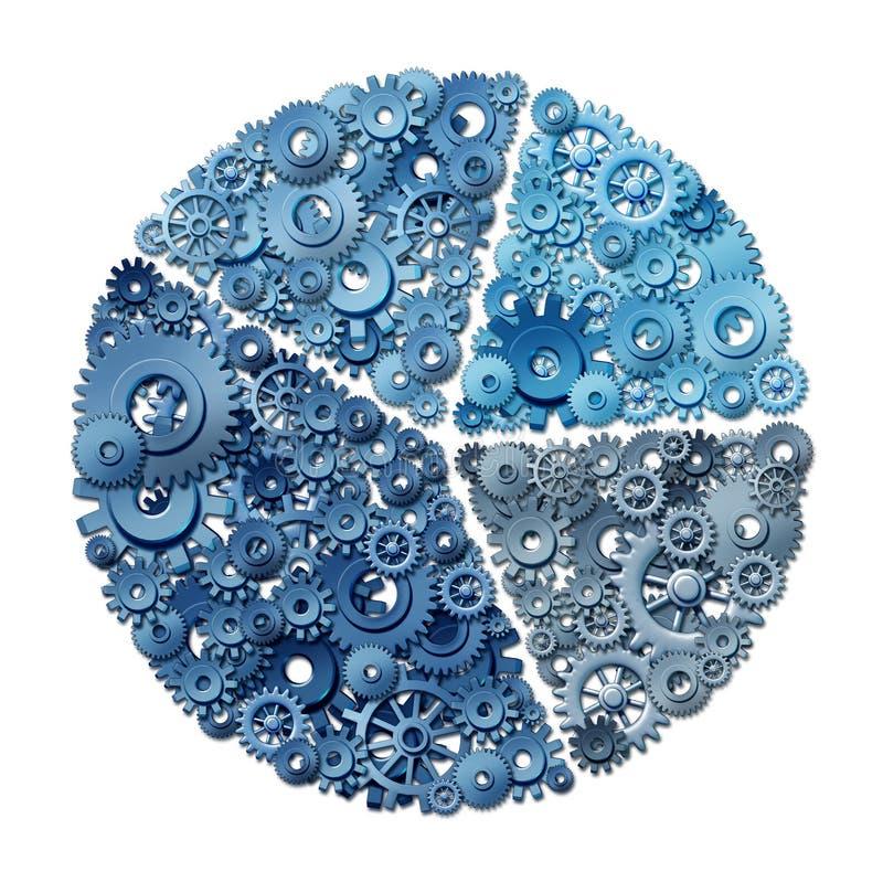 企业圆形统计图表图 库存例证