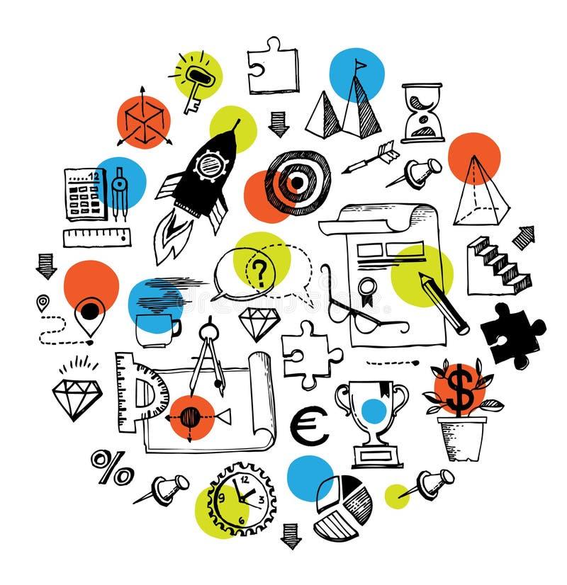 企业圆的构成 库存例证