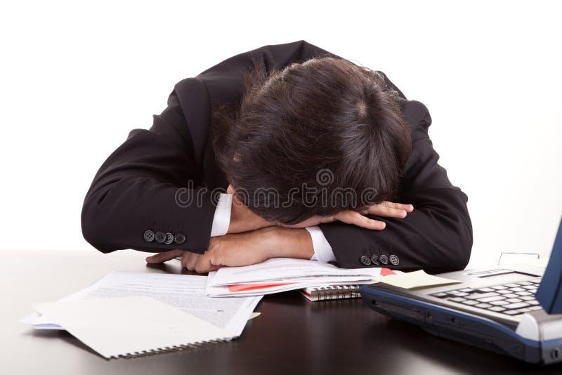 企业在休眠的服务台人 图库摄影