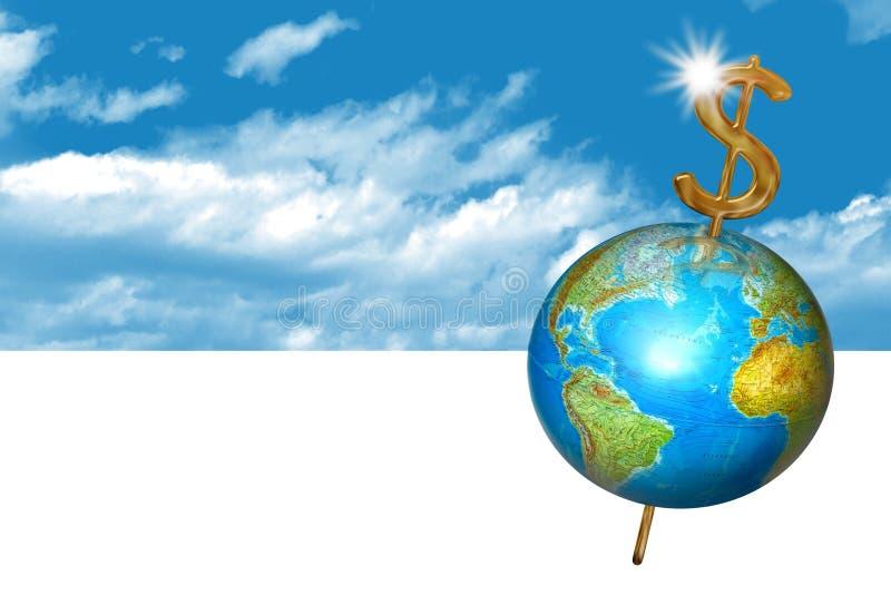 企业地球行星 向量例证