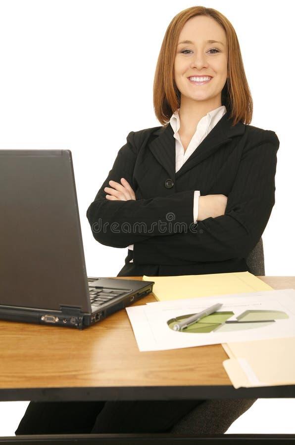 企业坐的妇女 库存图片