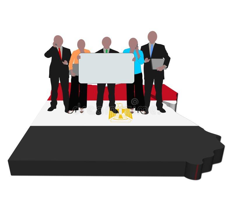 企业埃及标志映射小组 向量例证