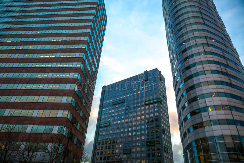 企业城市现代建筑学  Biljlmer竞技场阿姆斯特丹-荷兰 免版税图库摄影