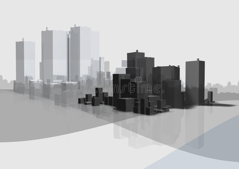 企业城市 库存例证