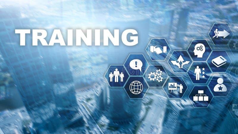 企业培训概念 训练Webinar电子教学 财政技术和通信概念 库存例证