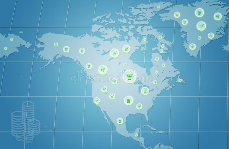 企业增长世界 皇族释放例证