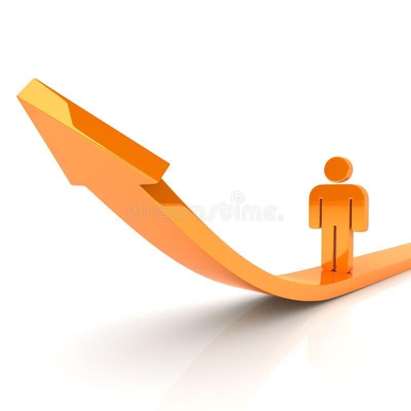 企业增长人 向量例证