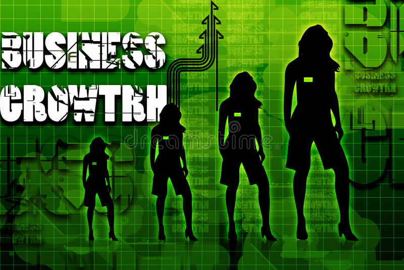 企业增长妇女 库存例证