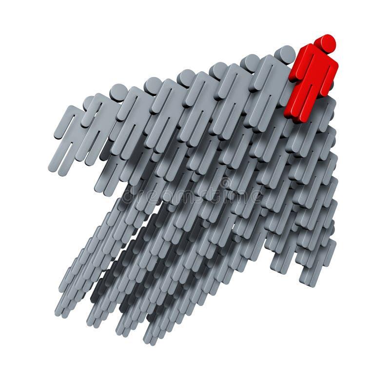 企业增长方法小组 库存例证