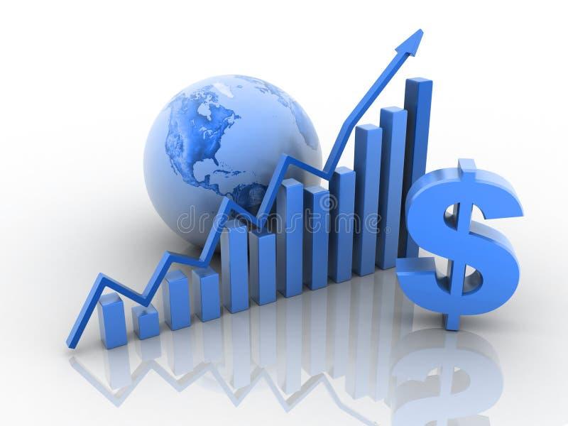 企业增长概念 皇族释放例证
