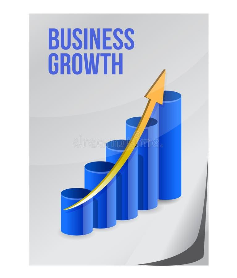 企业增长设计 库存例证