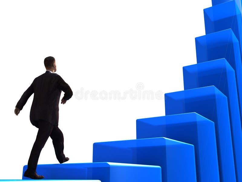 企业增长 向量例证