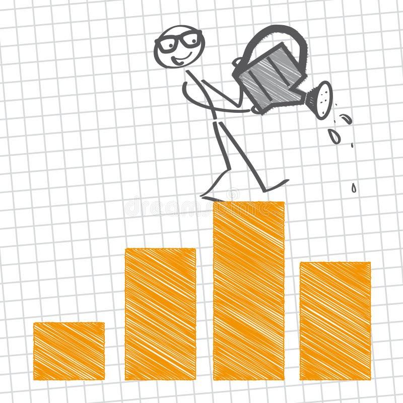 企业增长 库存例证