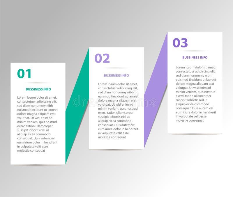 企业多色infographics的模板 免版税库存图片