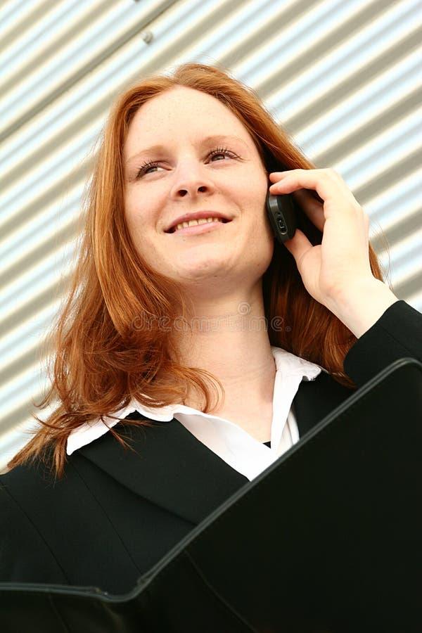 企业夫人年轻人 免版税图库摄影
