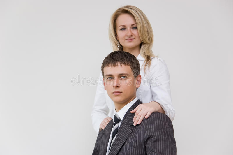 企业夫妇年轻人 库存照片