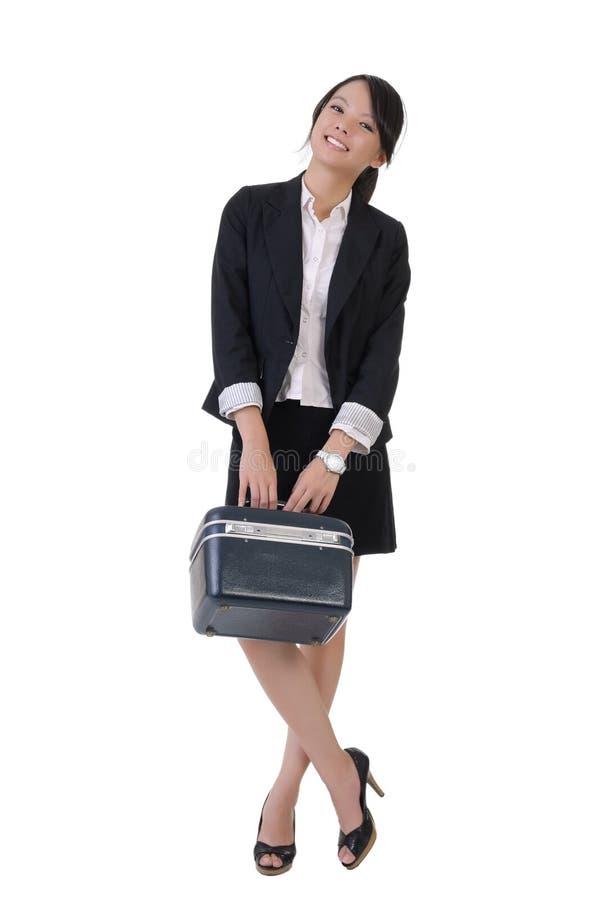 企业女孩微笑 库存图片
