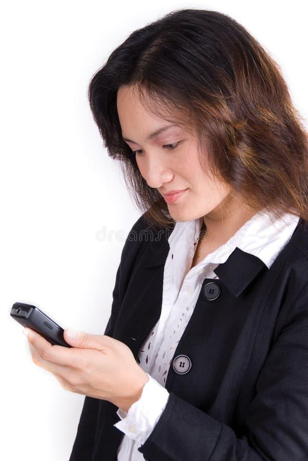 企业女孩电话 图库摄影