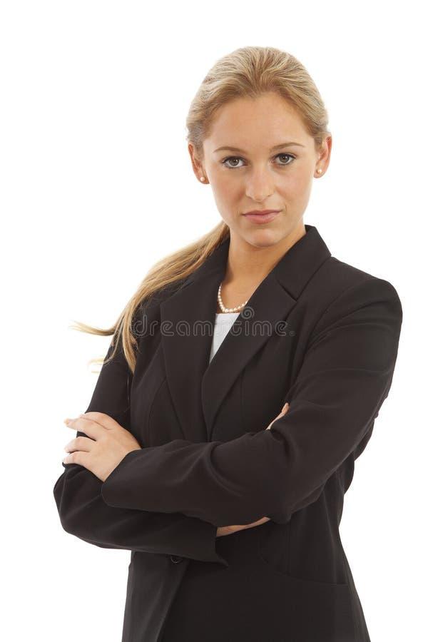企业女孩诉讼年轻人 库存图片