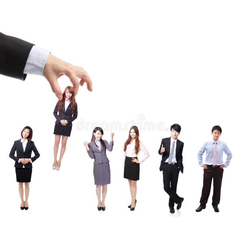 企业女实业家组人力大人资源 免版税图库摄影