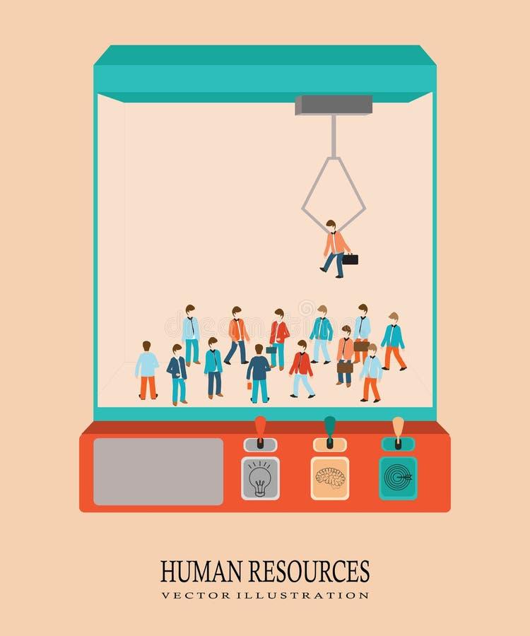 企业女实业家组人力大人资源 库存例证