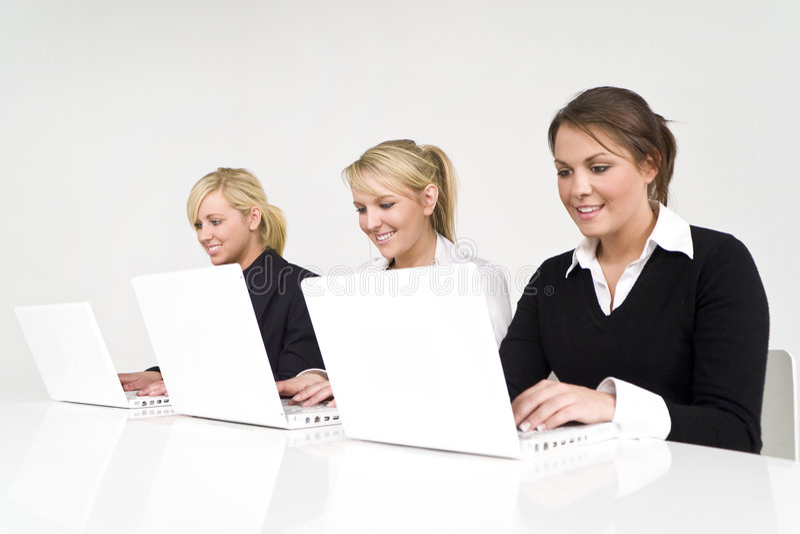 企业女性小组 免版税库存图片