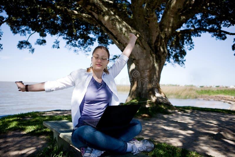 企业妇女工作 库存图片