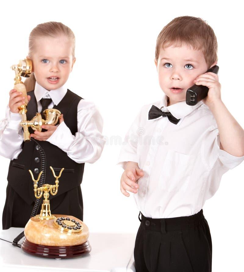 企业子项配合电话 库存图片