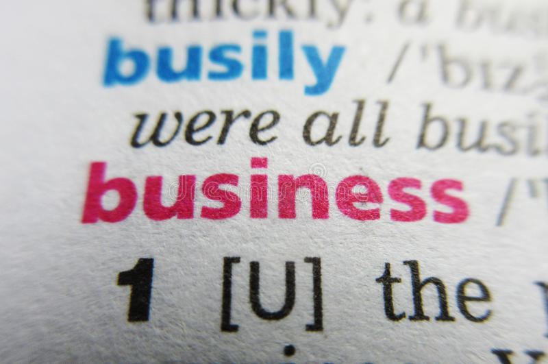 企业字词词典定义 库存照片