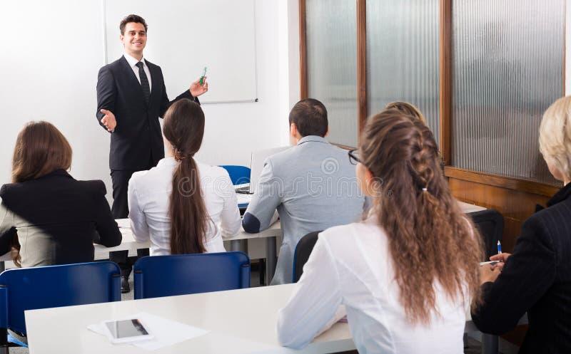 企业学生在教室 图库摄影