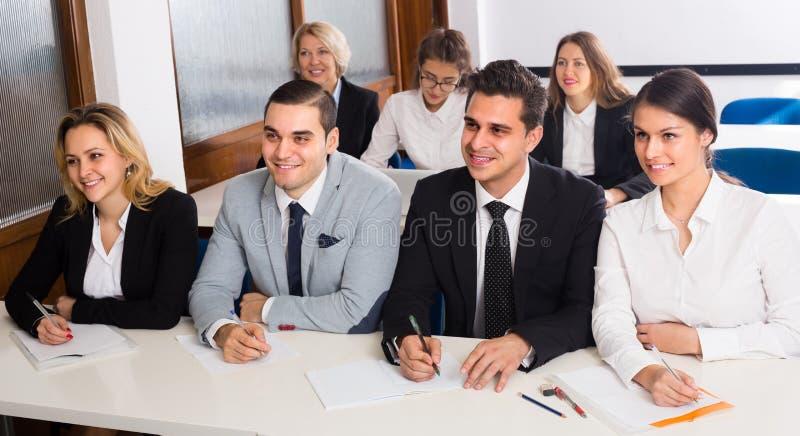 企业学生在教室 库存图片
