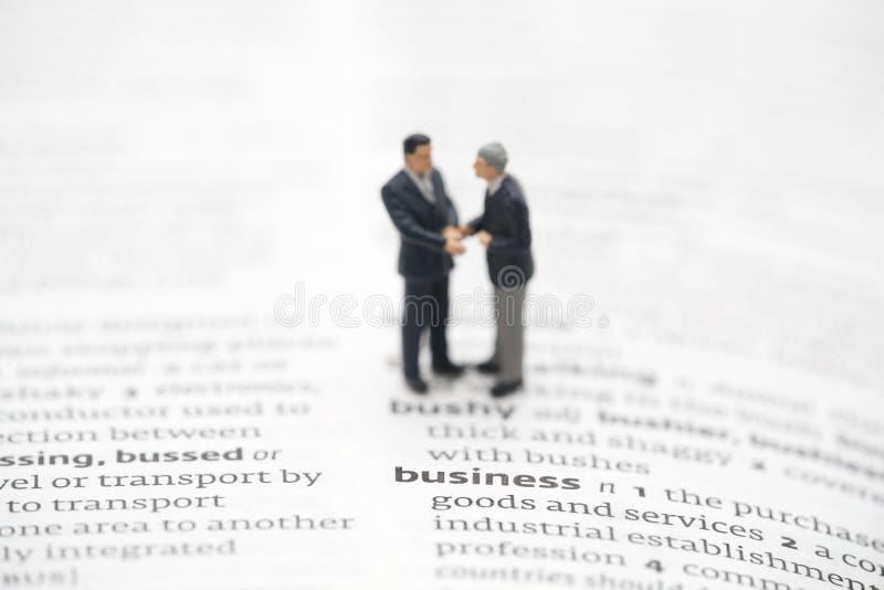 企业定义词典 免版税库存图片