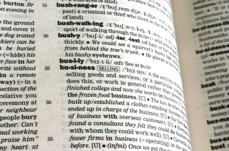 企业定义 免版税库存图片
