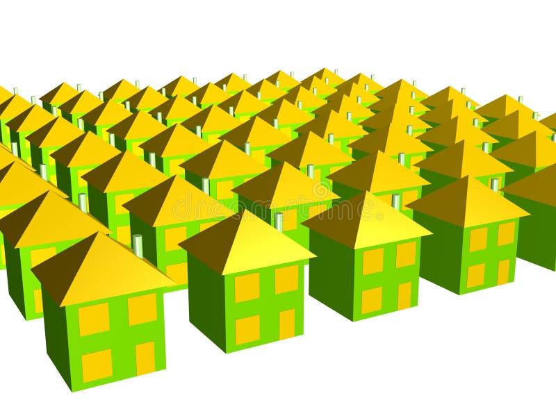 企业实际概念的庄园 向量例证
