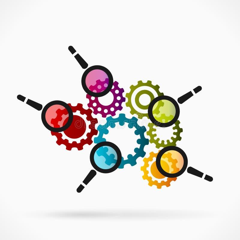 企业审计 向量例证
